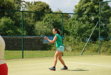 Trying out the courts, Open Day 2014