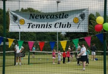 Busy courts at Tennis Club Open Day 2014