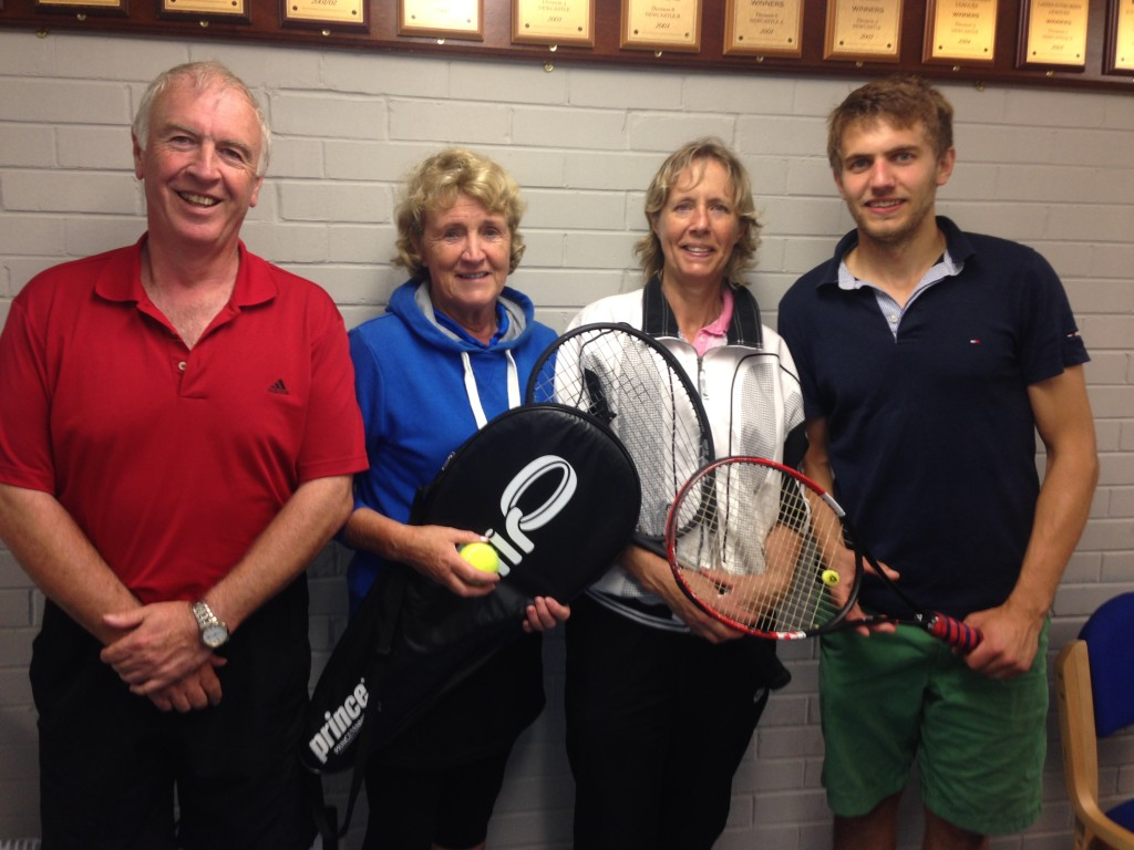 Victorious Newcastle (A) Team: (l-r) Trevor Long, Hazel Carder, Kay Speedy and Ryan Speedy