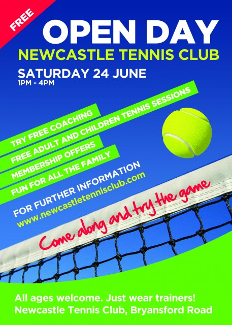 tennis open day flyer 2017